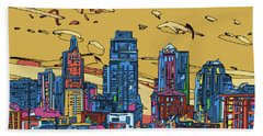 Kansas City Skyline Panorama 3 Beach Towel