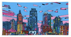 Kansas City Skyline Panorama 4 Beach Towel
