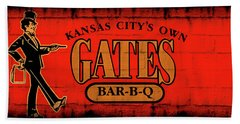 Kansas City's Own Gates Bar-b-q Beach Sheet