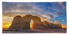 Beach Towel featuring the photograph Kansas Gold by Darren White