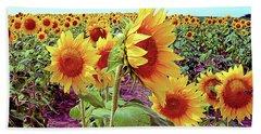 Kansas Sunflowers Beach Towel