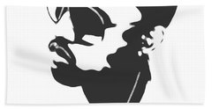 Kanye West Silhouette Beach Towel by Dan Sproul