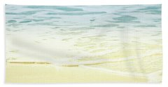 Kapalua Beach Dream Colours Sparkling Golden Sand Seafoam Maui Beach Towel by Sharon Mau