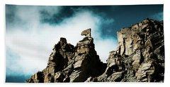 Karma Axe Tara Pass Kailas Himalayas Yantra.lv Beach Towel