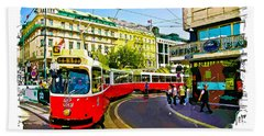 Beach Towel featuring the photograph Kartner Strasse - Vienna by Tom Cameron