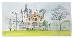 Kasteel Restaurant, Minnewater, Bruges Beach Towel by Keshava Shukla