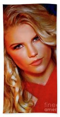 Kat Lernithan Miss Pacific Coast Pageant Beach Towel