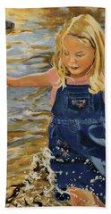 Kate Splashing Beach Towel