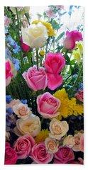 Kate's Flowers Beach Towel by Carla Parris
