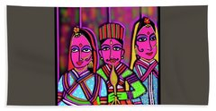 Beach Towel featuring the digital art Kathputli by Latha Gokuldas Panicker