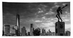 Katyn New World Trade Center In New York Beach Sheet