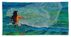 Kauai Fisherman Beach Towel