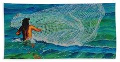 Kauai Fisherman Beach Towel