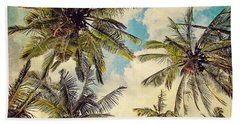 Kauai Island Palms - Blue Hawaii Photography Beach Towel by Melanie Alexandra Price