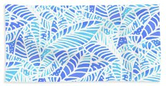 Kaua'i Ocean Leaves Beach Towel