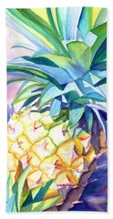 Beach Sheet featuring the painting Kauai Pineapple 3 by Marionette Taboniar