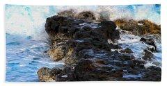 Kauai Rock Splash Beach Sheet
