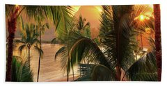 Olena Art Kauai Tropical Island View Beach Sheet