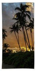 Kawaikui Sunset 4 Beach Towel by Leigh Anne Meeks