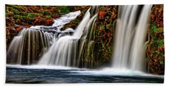 Beach Towel featuring the photograph Kay Falls by Scott Mahon