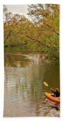Kayak At Mead Beach Towel