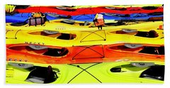 Kayak Caboodle Beach Towel