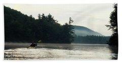 Kayak In The Fog Beach Sheet