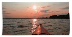 Kayak Sunset Beach Towel