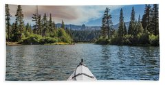 Kayak Views Beach Towel