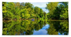 Beach Towel featuring the photograph River Kayaking by Michael Rucker
