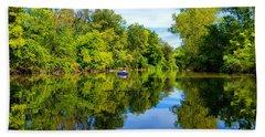 Beach Sheet featuring the photograph River Kayaking by Michael Rucker