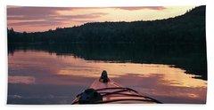 Kayaking Under A Gorgeous Sundown Sky On Concord Pond Beach Towel