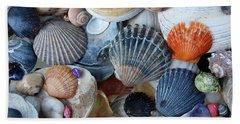 Beach Towel featuring the photograph Kayla's Shells by John Schneider