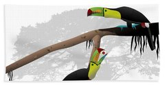 Keel-billed Toucans Beach Towel