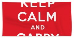Keep Calm And Carry On Beach Towels