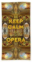 Keep Calm And Go To The Opera Garnier Grand Foyer Paris Beach Sheet
