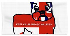 Keep Calm And Go Walkies Beach Towel