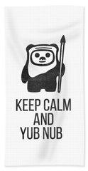 Keep Calm And Yub Nub Beach Sheet
