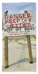 Keep Off Jetties Beach Sheet