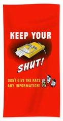 Keep Your Trap Shut -- Ww2 Propaganda Beach Sheet by War Is Hell Store