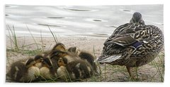 Beach Towel featuring the photograph Keeping Watch by Angie Rea