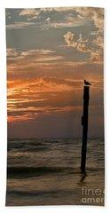 Keeping Watch Beach Sheet by Nicki McManus