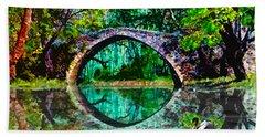 Kefalos Bridge Cyprus Beach Sheet by Michele Avanti