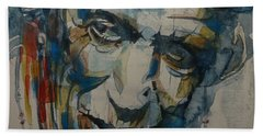 Keith Richards Art Beach Towel