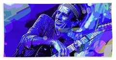 Keith Richards Blue Beach Towel