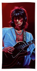 Keith Richards The Riffmaster Beach Towel by Paul Meijering