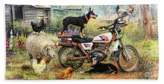 Kelpie Karetakers Beach Towel