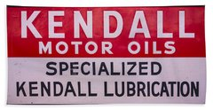 Kendall Motor Oils Sign Beach Towel
