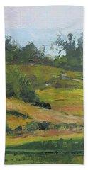 Beach Sheet featuring the painting Kenilworth Hills Queensland Australia by Chris Hobel