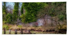Beach Towel featuring the photograph Kennetpans Distillery Ruins by Jeremy Lavender Photography